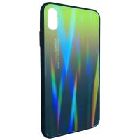 Чехол Glass Case Gradient iPhone XS Max (желтый-черный)