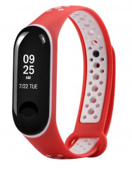 Ремешок для Xiaomi Band 3/4 Mijobs Sport (red-white)