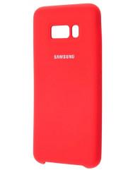 Силіконовий чохол Silky Samsung Galaxy S8 + (червоний)