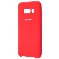 Силиконовый чехол Silky Samsung Galaxy S8+ (красный)