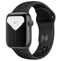 Apple Watch Series 5 40mm Space Gray Aluminium Case with Anthracite/Black Nike Sport (MX3T2)
