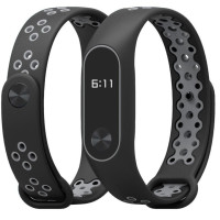 Ремешок для Xiaomi Band 2 Mijobs Sport (black-grey)