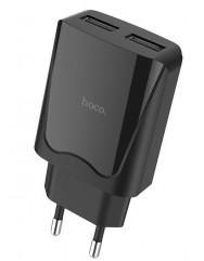 Сетевое зарядное устройство Hoco C52A 2USB/2.1A (черный)