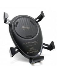 Автотримач з бездротовою зарядкою Konfulon CMQ01 (Black)