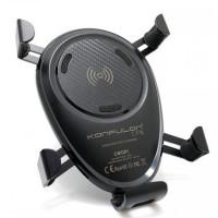 Автодержатель с беспроводной зарядкой Konfulon CMQ01 (Black)