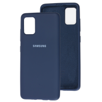 Чехол Silicone Case Samsung Galaxy A51 (темно-синий)