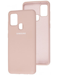 Чохол Silicone Case Samsung Galaxy A21s (бежевий)