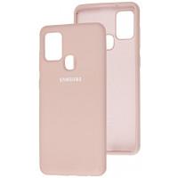 Чехол Silicone Case Samsung Galaxy A21s (бежевый)