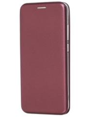 Книга Premium Xiaomi Redmi Note 8 (бордовый)