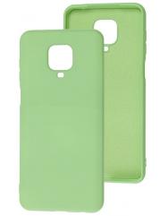 Чехол Silicone Case Xiaomi Redmi Note 9s/9 Pro (салатовый)