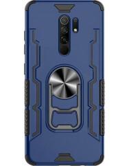 Чохол Beer Ring + підставка Xiaomi Redmi 9 (темно-синій)