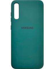 Чохол Silicone Case Samsung Galaxy A70 (темно-зелений)