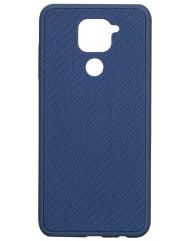 Чехол Premium Carbon Xiaomi Redmi Note 9 (синий)