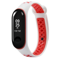Ремешок для Xiaomi Band 3 Mijobs Sport (white-red)