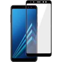 Стекло Samsung Galaxy A8 (5d) Black