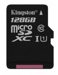 Карта пам'яті Kingston micro SD 128gb (10cl) 80 Mb / s