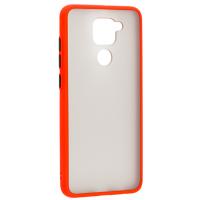 Чехол LikGus Maxshield матовый Xiaomi Redmi Note 9 (красный)