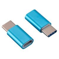 Адаптер Micro на Type-C (голубой)