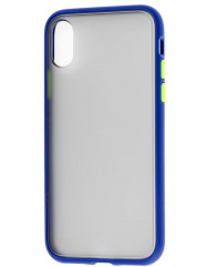 Чохол LikGus Maxshield матовий iPhone XS Max (темно-синій)