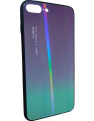 Чохол Glass Case Gradient iPhone 7/8 Plus (фіолетовий)