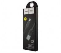 USB кабель Hoco X5 Micro (черный) 1 м