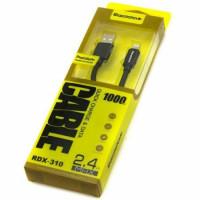 USB кабель Reddax RDX-310 For IPhone (черный) 1м