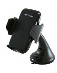 Автодержатель с беспроводным зарядным устройством JPD-Q68 (черный)