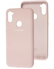 Чехол Silicone Case Samsung Galaxy A11 / M11 (бежевый)