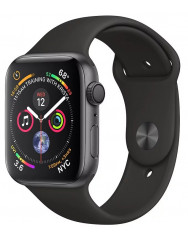 Apple Watch Series 4 44mm Space Gray Aluminum Case with Black Sport Band (MU6D2)