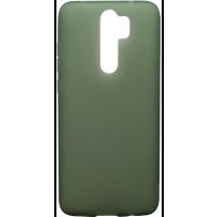 Чехол силиконовый матовый Xiaomi Redmi Note 8 Pro (хаки)
