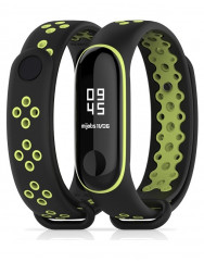 Ремешок для Xiaomi Band 3 Mijobs Sport (black-green)