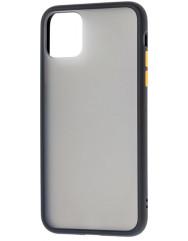Чохол LikGus Maxshield матовий iPhone 11 Pro Max (чорно-жовтий)