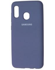 Чехол Silicone Case Samsung Galaxy A20/A30 (серый)