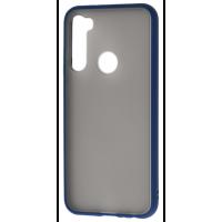 Чехол LikGus Maxshield матовый Xiaomi Redmi Note 8 (темно-синий)
