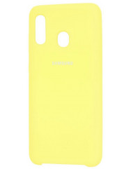 Чохол Silky Samsung Galaxy A20/A30 (жовтий)