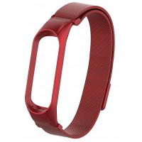 Ремешок для Xiaomi Band 5 Metal Magnit (Red)