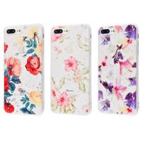 Силиконовый чехол iPhone 7/8 Plus (цветы)