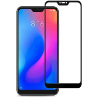 Стекло Матовоe  Xiaomi Mi A2 Lite (9D Black) 0.39mm