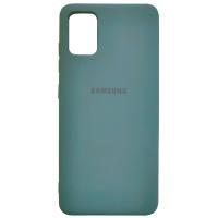 Чехол Silicone Case Samsung Galaxy A31 (темно-зеленый)