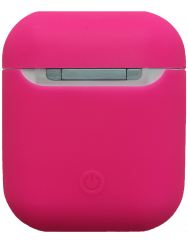 Чохол для Airpods силіконовий (яскраво-рожевий)