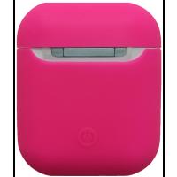 Чехол для Airpods силиконовый (ярко-розовый)