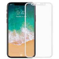 Стекло Apple iPhone X (6D white)