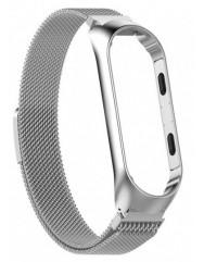 Ремінець для Xiaomi Band 3/4 Metal Magnit (Silver)