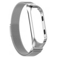 Ремешок для Xiaomi Mi Band 3/4 Metal Magnit (серебряный)