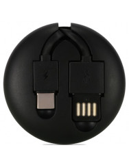Remax Roller type Retractable (RC-099)[RC-099A-BLACK]