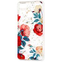 Силиконовый чехол Xiaomi Redmi 6 (красные цветы)
