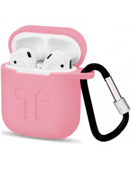 Чохол для AirPods Colors з карабіном (рожевий)