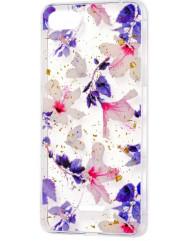 Силіконовий чохол Xiaomi Redmi 6a (фіолетові квіти)