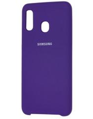 Чехол Silky Samsung Galaxy A20/A30 (фиолетовый)
