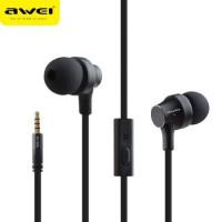 Вакуумные наушники-гарнитура Awei ES-Q910i (черный)